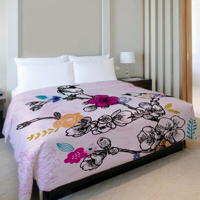 Birds Lightweight Duvet Cover Size: King