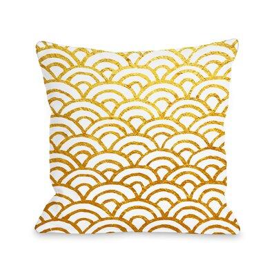 Patillo Gold Outdoor Throw Pillow Size: 16 x 16