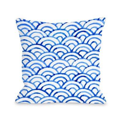 Patillo Ocean Outdoor Throw Pillow Size: 16 x 16