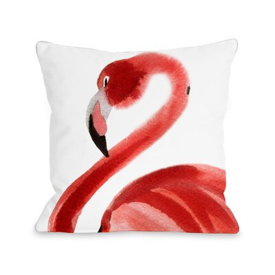 Longview Flamingo Outdoor Throw Pillow Size: 18 x 18