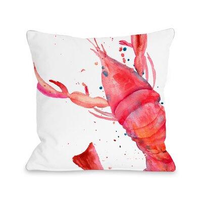 Dutcher Lobster Outdoor Throw Pillow Size: 16 x 16