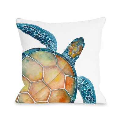 Citium Sea Turtle Outdoor Throw Pillow Size: 16 x 16