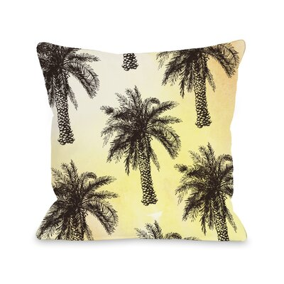 Graham Palm Tree Pattern Outdoor Throw Pillow Size: 18 x 18