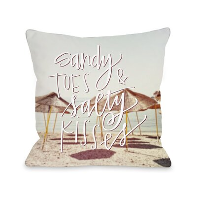 Citium Sandy Toes Salty Kisses Outdoor Throw Pillow Size: 16 x 16