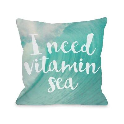 Cintron Vitamin Sea Outdoor Throw Pillow Size: 16 x 16