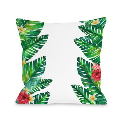Palomar Palm Leaves Outdoor Throw Pillow Size: 16 x 16