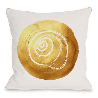 Shell Circle Throw Pillow Size: 18 H x 18 W x 3 D