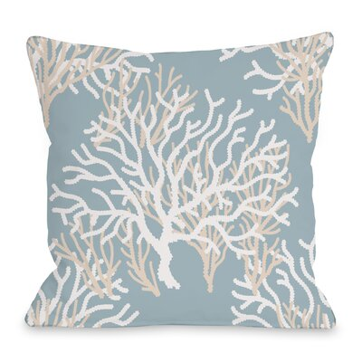 Coral Throw Pillow Size: 18 H x 18 W x 3 D