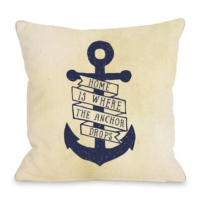 Anchor Drops Throw Pillow Size: 16 H x 16 W x 3 D
