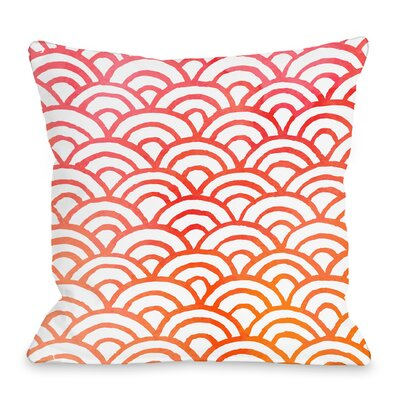 Scallop Throw Pillow Size: 16 H x 16 W x 3 D, Color: Melon