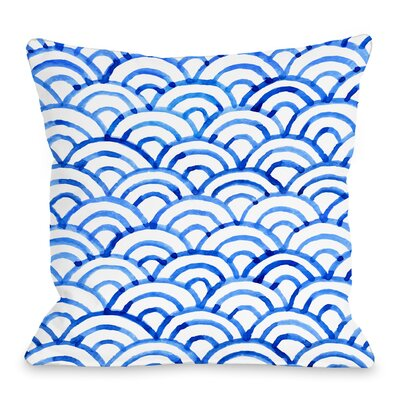 Scallop Throw Pillow Size: 16 H x 16 W x 3 D, Color: Ocean