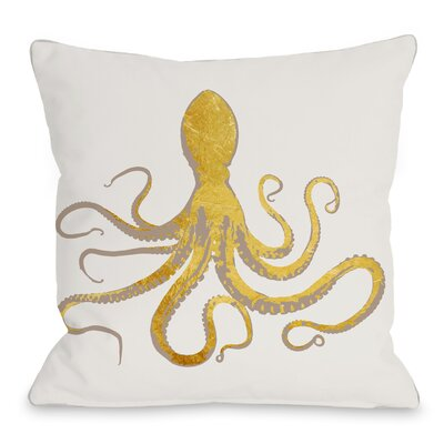 Octo Silo Throw Pillow Size: 18 H x 18 W x 3 D