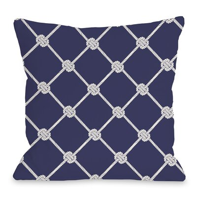 Nautical Rope Throw Pillow Size: 18 H x 18 W x 3 D
