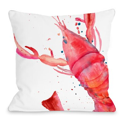 Oversized Lobster Throw Pillow Size: 16 H x 16 W x 3 D