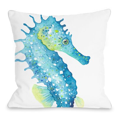Oversized Seahorse Throw Pillow Size: 16 H x 16 W x 3 D