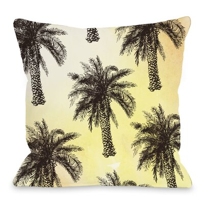 Palm Tree Throw Pillow Size: 16 H x 16 W x 3 D