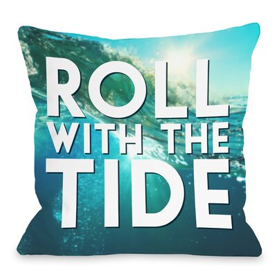 Roll with the Tide Throw Pillow Size: 16 H x 16 W x 3 D