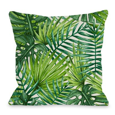 Palm Leaf Throw Pillow Size: 16 H x 16 W x 3 D
