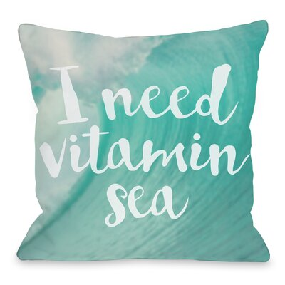 Vitamin Sea Throw Pillow Size: 16 H x 16 W x 3 D