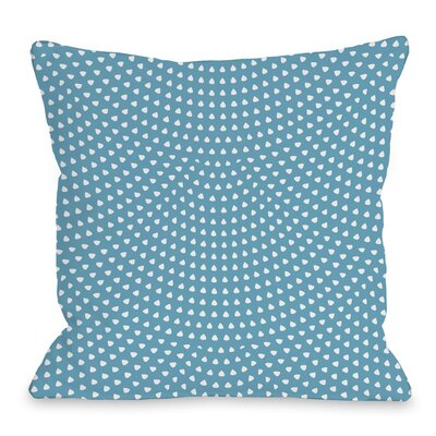 Scalloped Dots Throw Pillow Size: 18 H x 18 W x 3 D