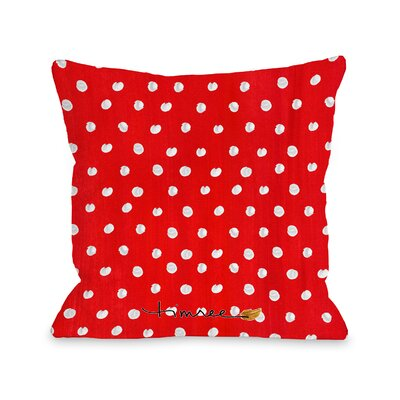 Bow Wreath Throw Pillow Size: 16 x 16
