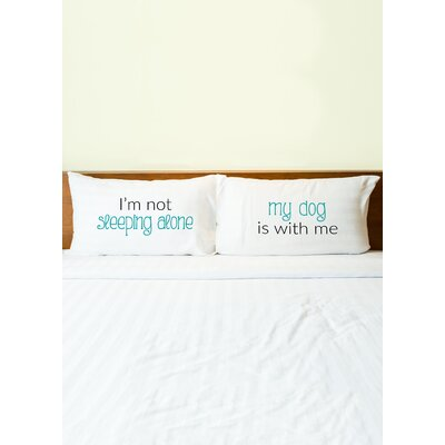 2 Piece Sleeping Alone Dog Pillowcase Set