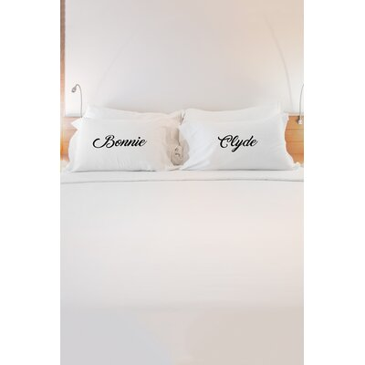 2 Piece Bonnie and Clyde Pillowcase Set