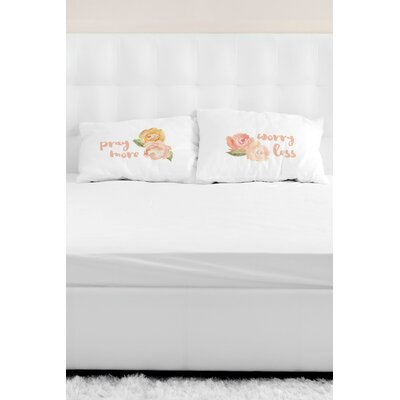 2 Piece Pray More Worry Less Pillowcase Set