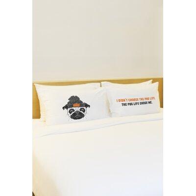 2 Piece Pug Life Pillowcase Set