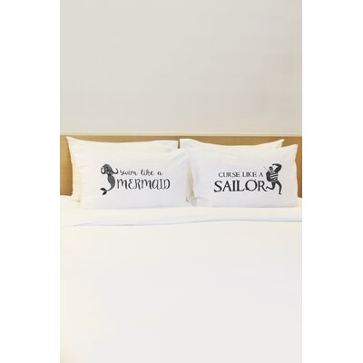 2 Piece Mermaid Sailor Pillowcase Set