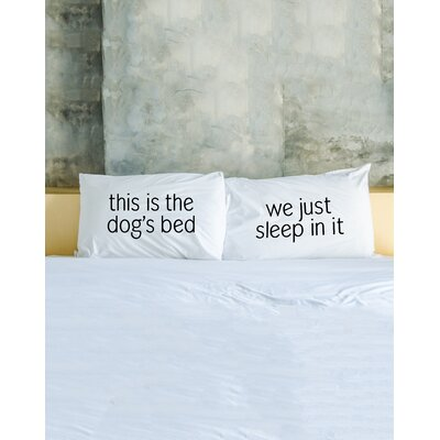 2 Piece Dogs Bed Pillowcase Set
