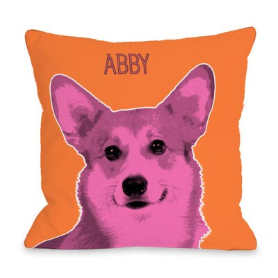 Personalized Whisker Dog Corgi Throw Pillow Size: 16 H x 16 W x 3 D