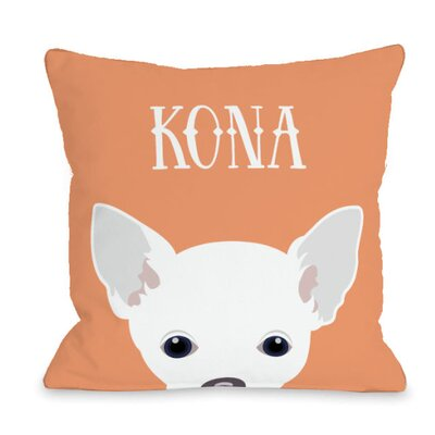 Personalized Peeking Chihuahua Throw Pillow Size: 18 H x 18 W x 3 D