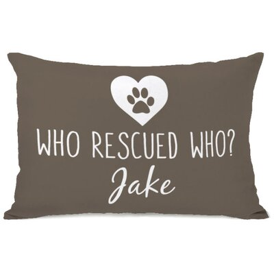 Personalized Who Rescued Who Lumbar Pillow