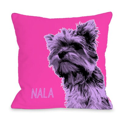 Personalized Whisker Dog Yorkie Throw Pillow Size: 18 H x 18 W x 3 D