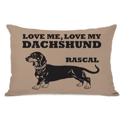 Personalized Love Me Love My Dachshund Lumbar Pillow
