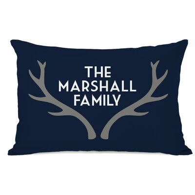 Personalized Antler Family Lumbar Pillow