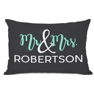 Personalized Mr & Mrs Lumbar Pillow