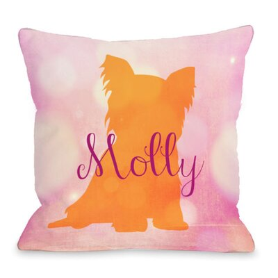 Personalized Yorkie Throw Pillow Size: 18 H x 18 W x 3 D