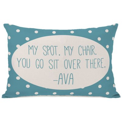 Personalized My Spot My Chair Lumbar Pillow