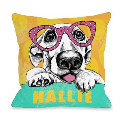 Personalized Wacky Pup Throw Pillow Size: 18 H x 18 W x 3 D