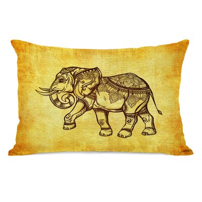 Elephant Henna Lumbar Pillow