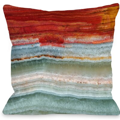 Onyx Hot Cold Throw Pillow Size: 16