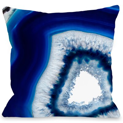 Geode Abyss Throw Pillow Size: 18 H x 18 W x 3 D