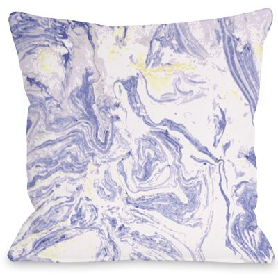 Marble Meadow Throw Pillow Size: 18