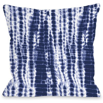 Dye Midnight Throw Pillow Size: 16 H x 16 W x 3 D