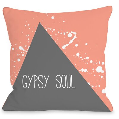 Triangle Pop Gypsy Soul Throw Pillow Size: 16