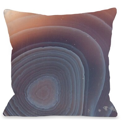 Agate Mineral Throw Pillow Size: 18 H x 18 W x 3 D