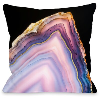 Geode Rainbow Throw Pillow Size: 18 H x 18 W x 3 D