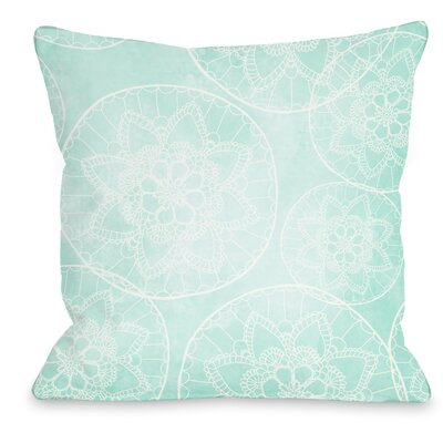 Doily Throw Pillow Size: 18 H x 18 W x 3 D
